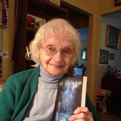 Olga with my book
