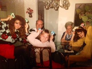 My sisters & I with GG and G'pa . . . being silly (always)